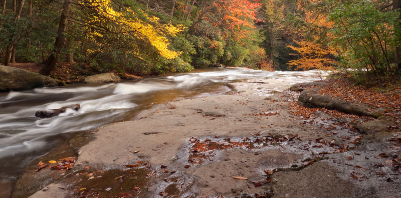 Muddy Creek on the lip of the falls<br /> Swallow Falls State Park, near Oakland, MD