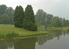 Gardens in the fog<br /> Brookside Gardens, Wheaton, MD