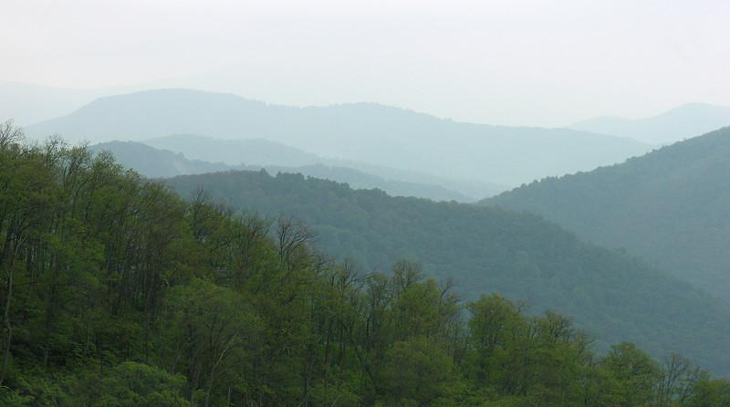 Misty Blue Ridge view<br /> Shenandoah National Park, VA