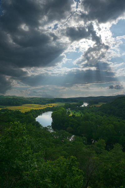 Late afternoon over South Fork Shenandoah River from Cullers Overlook<br /> R. R. Guest Shenandoah River State Park, Bentonville, VA