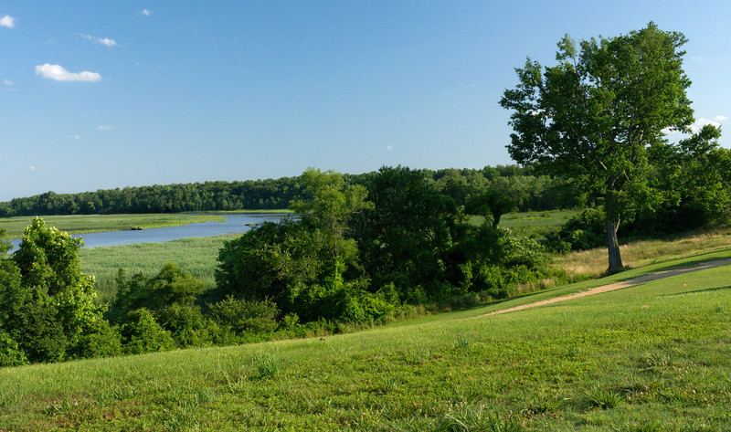 Summer afternoon view of Jug Bay<br /> Mount Calvert Historical and Archaeological Park, Upper Marlboro, MD