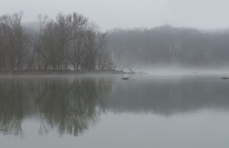 A foggy morning on the Potomac River<br /> C&O Canal Nat'l Hist Park - Great Falls, Western Montgomery County, MD