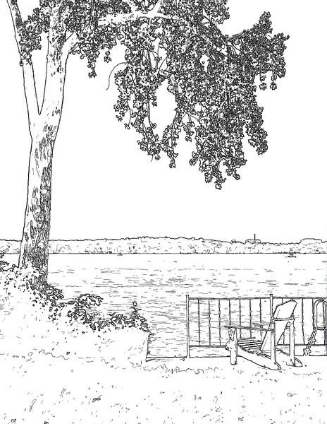 By Lake Mendota <I>(pen & ink effect)</I> Middleton, WI