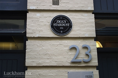 David Bowie is... in London 2013 - Heddon Street where the Ziggy Stardust cover was shot.