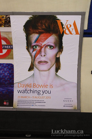 David Bowie is Exhibit underground tube station ad, London