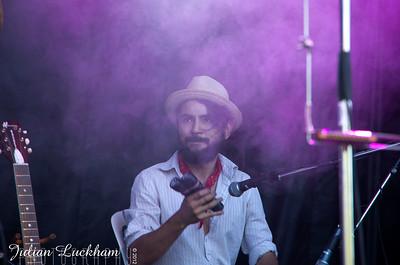 Quique Escamilla playing percussion for Danny Michel