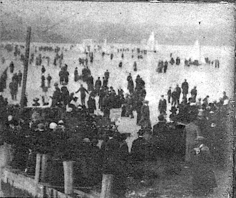 "Ice Boating At Red Bank. NJ Circa 1915 ""Dave Anthony"" (?)"