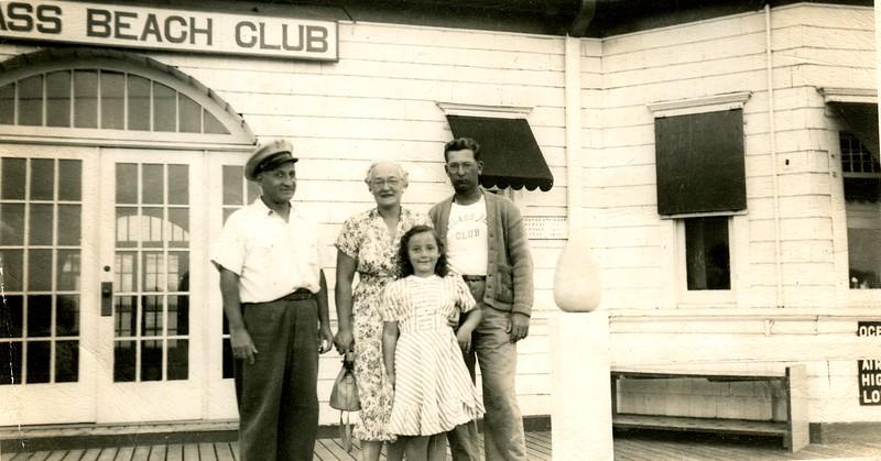 The Brenner's at Sandlass Beach Club, Sandy Hook, circa 1948
