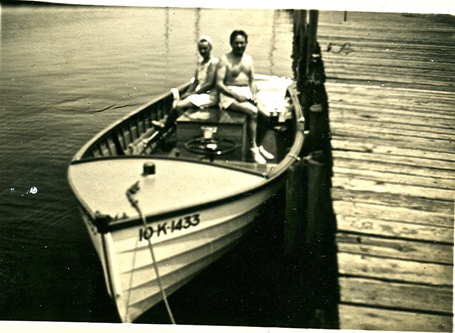 unknown couple- could be Bert's first boat