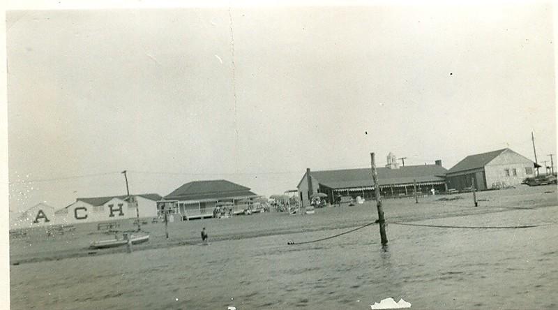 Sandlass Beach from the river 1947
