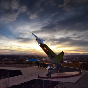 Missile On Launcher & Sunset adj 7x7_3198 copy