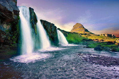 Kirkjufell And Waterfall
