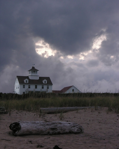 Gathering storm at dusk at Old Coast Guard Station<br /> Cape Cod National Seashore, Eastham, Cape Cod, MA