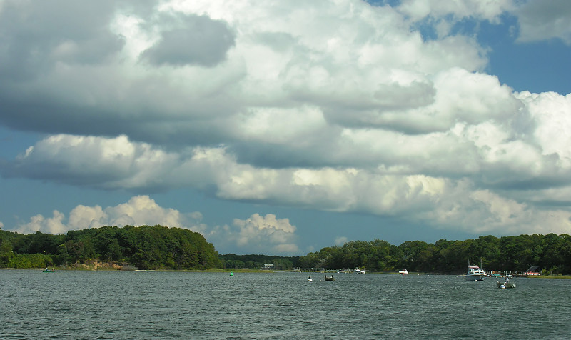 Gathering clouds over the Bass River<br /> Dennis, Cape Cod, MA