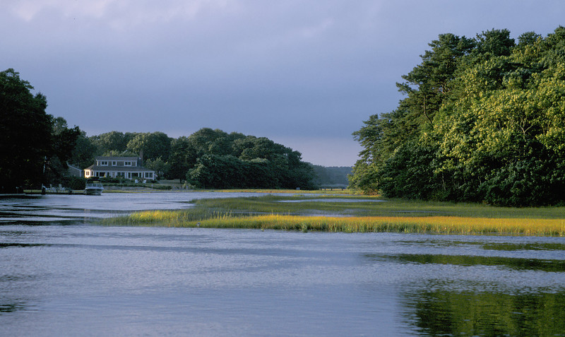 Herring River at sunset<br /> Dennis, Cape Cod, MA