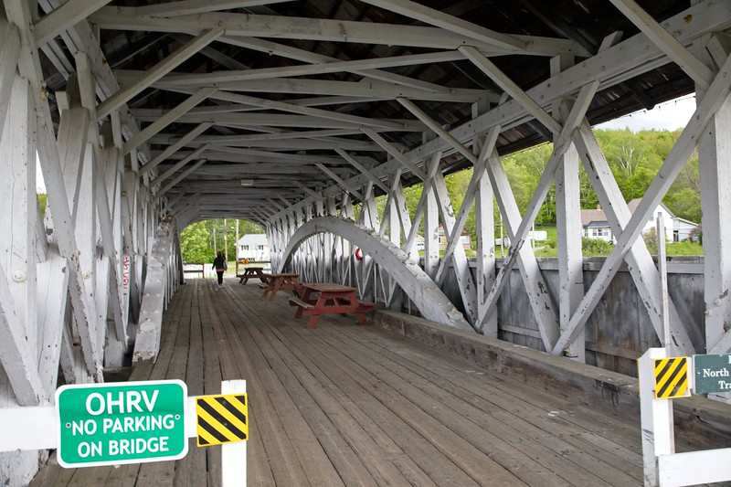 Goveton Covered Bridge at Northumberland New Hampshire.