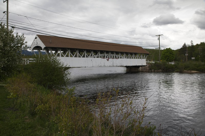 Goveton Covered Bridge at Northumberland New Hampshire.