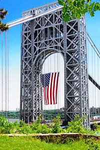 Old Glory and the GW Bridge