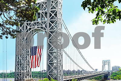 American Flag-George Washington Bridge