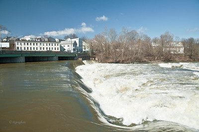 Passaic River at Great Falls Paterson NJ - Mar 12 2011