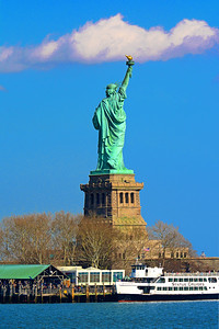 Liberty Island and the Lady