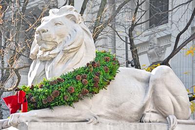 NY Holidays- NY Public Library Lion