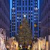 NYC-Roc Center Christmas Tree Scene