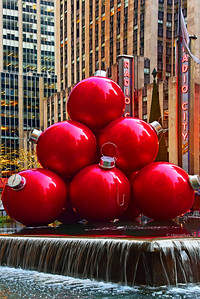 Giant Red Balls NYC