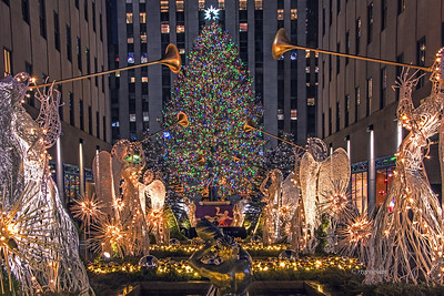 Rockefeller Center Christmas Tree Scene