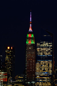 Empire State Building Christms Colors