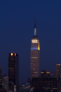 Empire State Building - Superbowl 2010