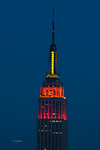 Empire State Building Thanksgiving  colors
