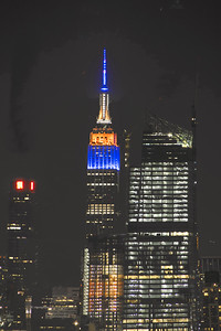 NYC Empire State Building Bronco Colors