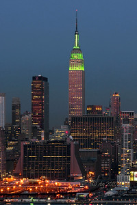 Empire State Building on Saint Patrick's Day