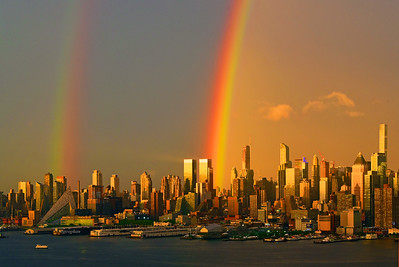 NYC double rainbow