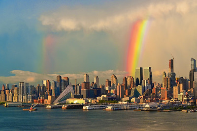 NYC Rainbows in the Skies