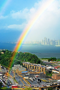 NJ-Hudson River Rainbow's End