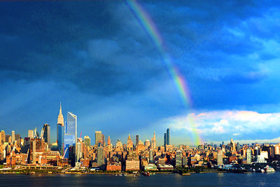 NYC Sept Sundown Rainbow