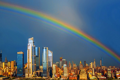 New York Rainbow Cityscape