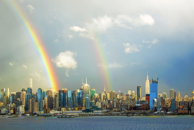 Double Rainbow over Manhattan