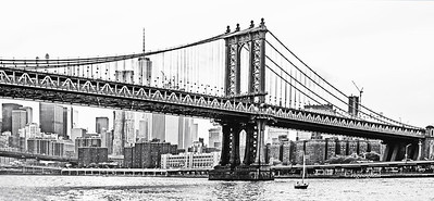 NYC Manhattan Bridge in Black and White