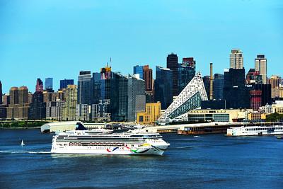 Departing Cruise Ship NYC