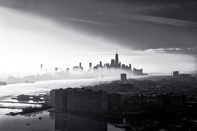 Hudson River Morning Fog