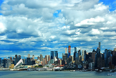 NYC and Afternoon Clouds