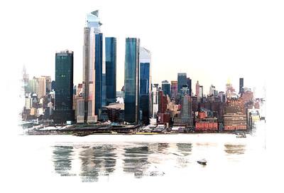 NYC on Ice Art Print 1