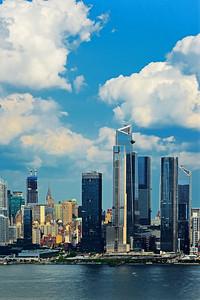 New York Skyline and Summer Skies