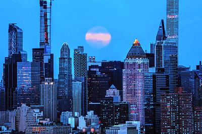 NY Skyline Moonlit Blues