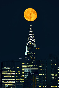 Moonrise over Chrysler Building