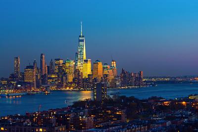 NJ-NY Hudson River Twilight