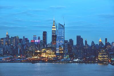 NY Skyline-Twilight Blues